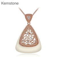 Retro Rose Gold Color Necklace For Women Geometry Vintage Necklaces Pendants Jewelry 15