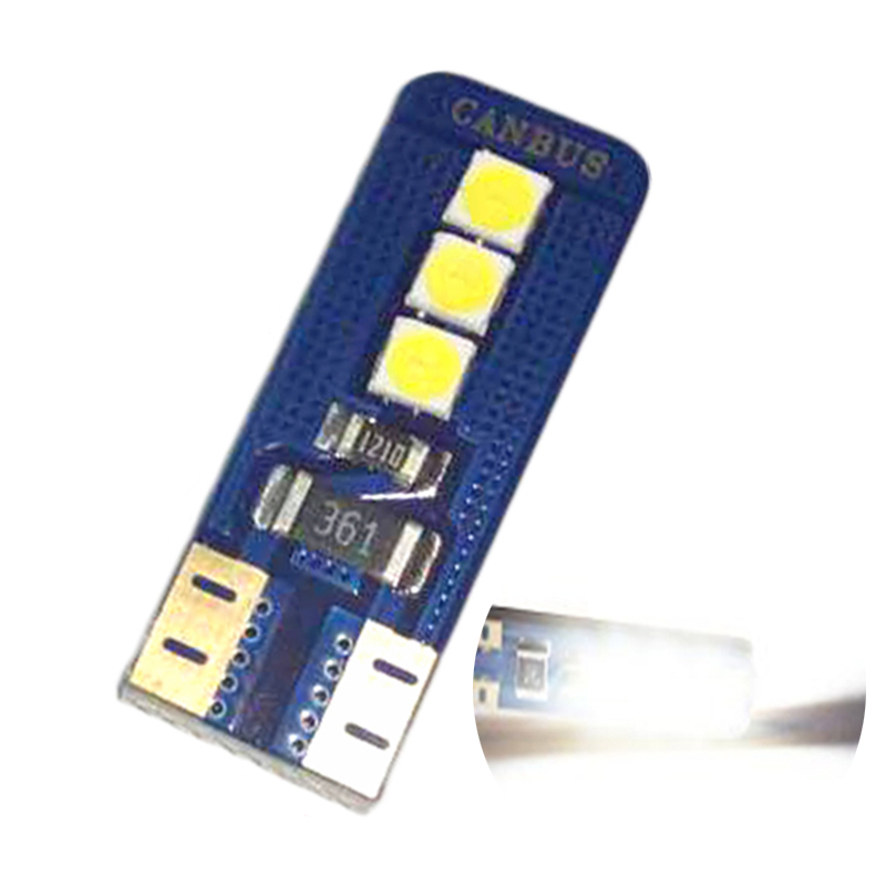 <font><b>100PCS</b></font> <font><b>Canbus</b></font> <font><b>T10</b></font> 3030 6SMD White 194 168 2825 W5W LED Bulb For Car Interior Dome Side Tail Light Car Replacement Lights Bulb image