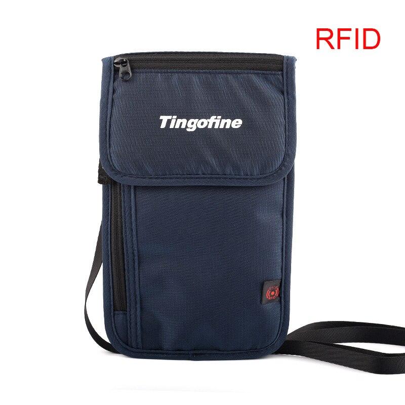 Nylon Anti-Theft Travel Passport Neck Bag RFID Blocking Phone Wallet Pouch For Men And Women Mini Crossbody Bag