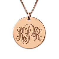 AILIN Freeshipping Monogrammed Necklace Personalized Initials Monogram Necklace Silver Nameplate Pendant Custom Name Jewelry