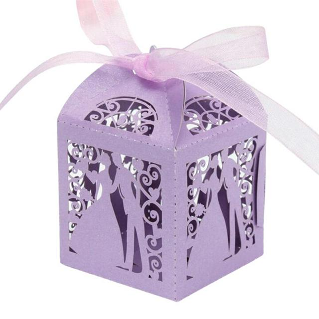 50 Pcs Wedding Anniversary Candy Boxes