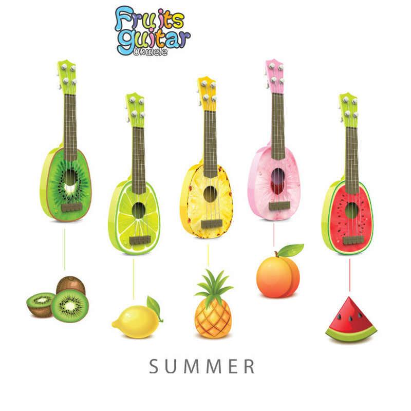 """2016 חדש מיני ukulele גיטרה פירות יכול לשחק כלי נגינה לילדים ללמוד צעצועי 36.5*12*4 ס""""מ"""