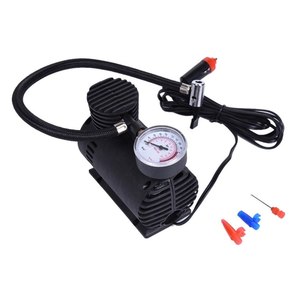 Portable Tire micro pump 12V Pump Electric Tire Inflator Cigarette Lighter Power Supply With Gas