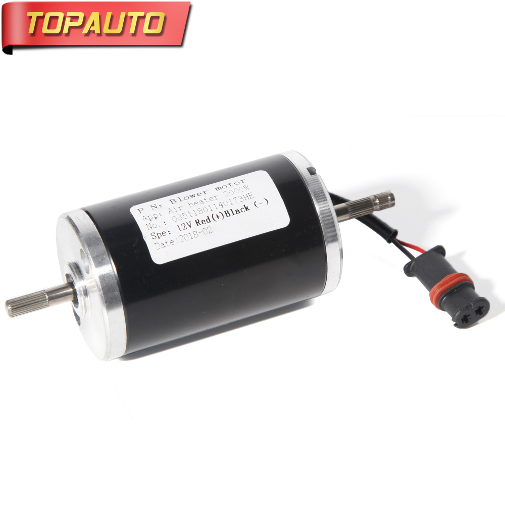 TopAuto 12V 24V Electric Motor For Eberspacher D2 Air Diesel Parking Heater Replacement Combustion Truck Car
