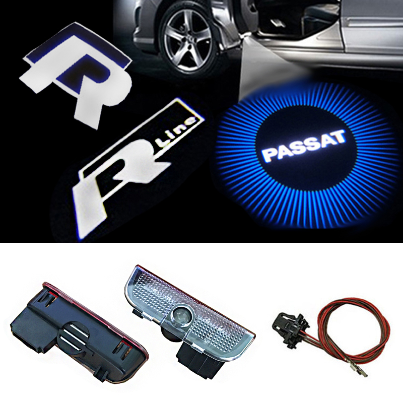 2pcs/lot Car LED Door Logo Projector Ghost Shadow Light For VW Golf 5 6 7 Jetta MK5 MK6 MK7 Tiguan Passat B6 B7 2pcs 5th car led door light for for m 2 3 5 6 cx 5 cx 7 cx 9 rx8 logo projector ghost shadow welcome light