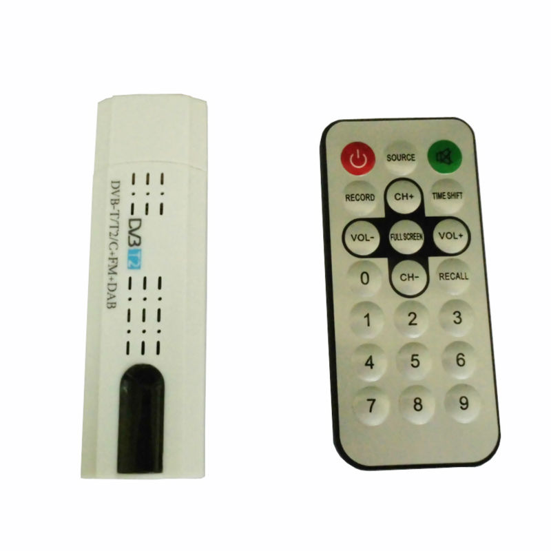 Digital DVB T2 USB TV Stick Tuner with Antenna Remote Control USB2.0 HDTV Receiver for DVB-T2 DVB-C FM DAB dvb-t2 usb stick