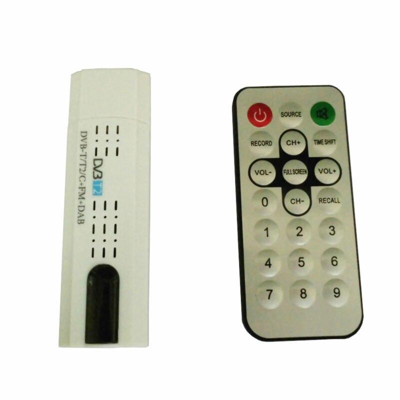Sintonizador Da Vara Da Tevê De Digitas Dvb T2 Usb Com Receptor Usb2.0 Hdtv Da Antena De Controle Remoto Para DVB-T2 DVB-C Fm Dab Dvb-t2 Usb Vara