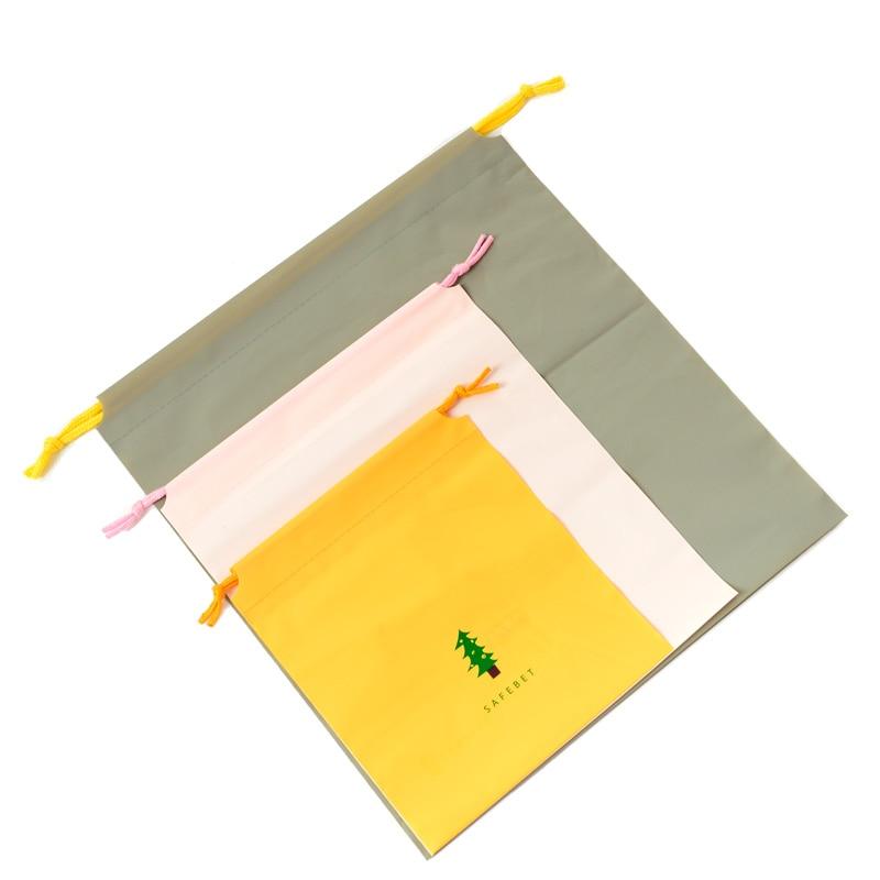 Sac de rangement Portable pour vêtements avec fermeture à cordon 1 unité, pochette à cordon dessin animé, sac de rangement de voyage, sacs à bagages avec finition, sac étanche pour vêtements et chaussures