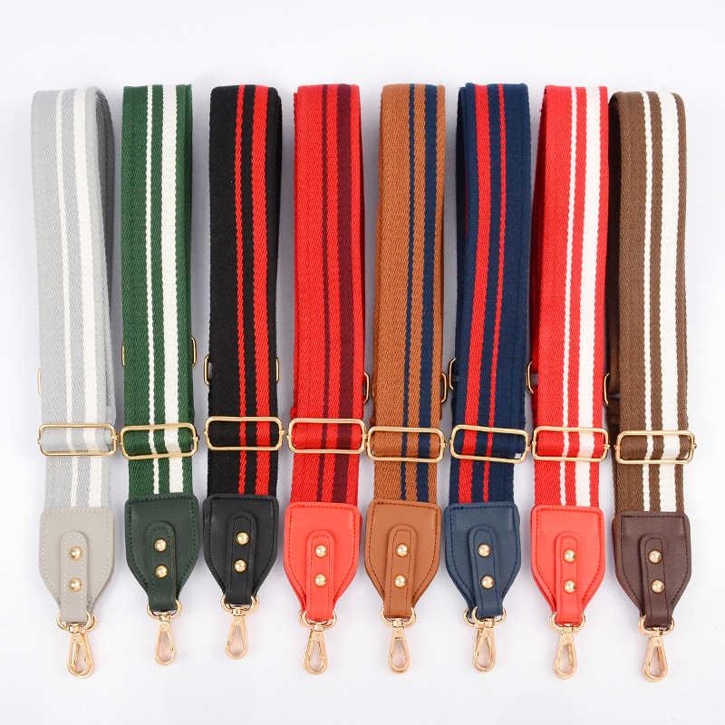 Шириной 5 см сумке хлопковая холщевая ткань ремень через плечо цветная полоска DIY сумка Аксессуары регулируемые 140 ~ 88
