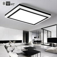 BWART Modern Remote Control Ceiling Lights Surface Mounted LED Ceiling Lamp For Living Room Bed Room