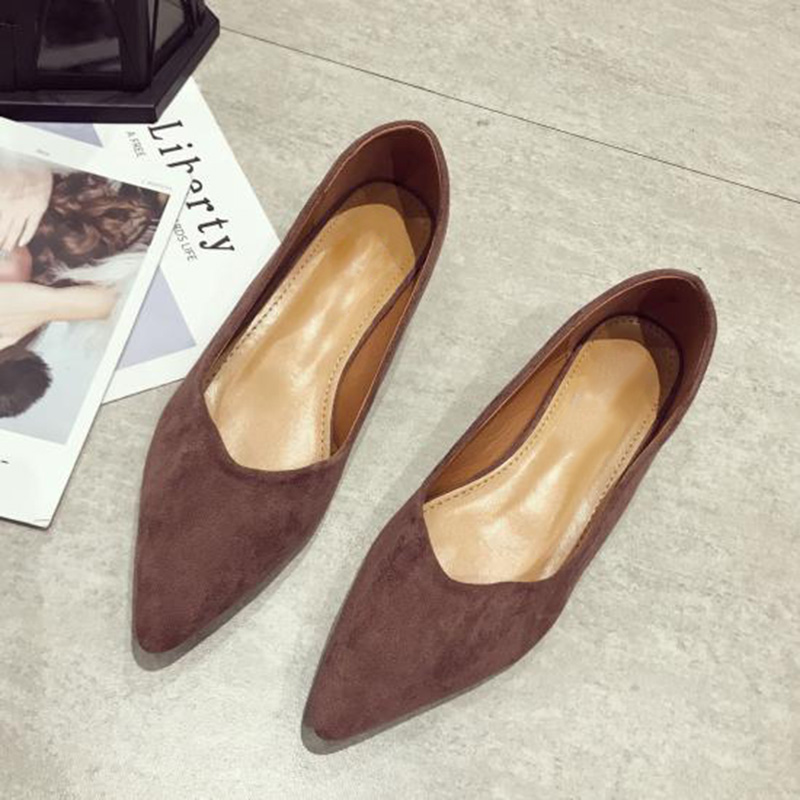 Image 5 - 2019 Spring Women Shoes Pointe Office Ladies Low Heels Women Pumps Elegant Woman High Heels A738-in Women's Pumps from Shoes
