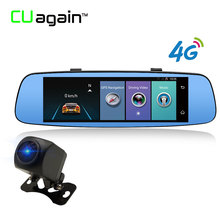 CUagain CU6 4G Wifi DVR 8′ Mirror GPS Car Camera ADAS Bluetooth Touch Screen Car Video Recorder Mirror Registrar Android Dashcam