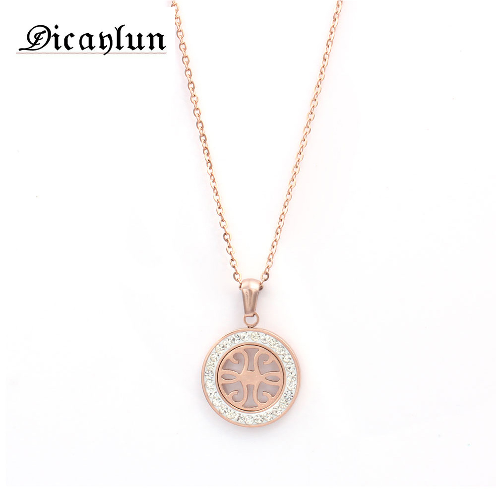 DICAYLUN women's clothing & accessories necklaces & pendants collares women necklace stainless steel chain fashion jewelry