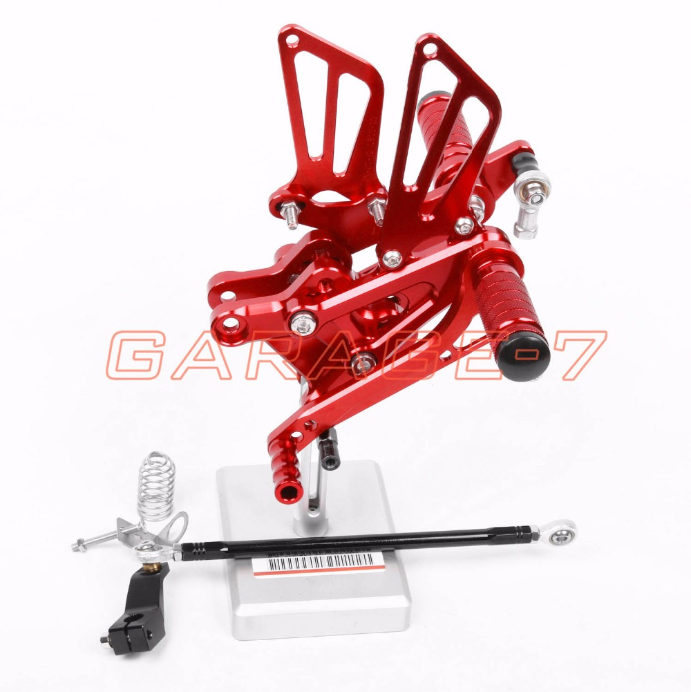 CNC Rearsets Foot Rests Rear For HONDA CBR600F 2001-2007 2002 2003 2004 2005 2006 Motorcycle Foot Pegs Aluminum Alloy Red