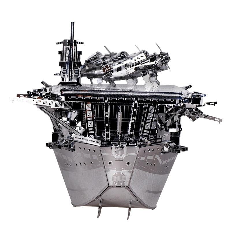 MU 3D Metal Puzzle Aircraft Carriers AKAGI Model DIY Laser Cut Jigsaw Model  For Adult kids 2e95e94482ca