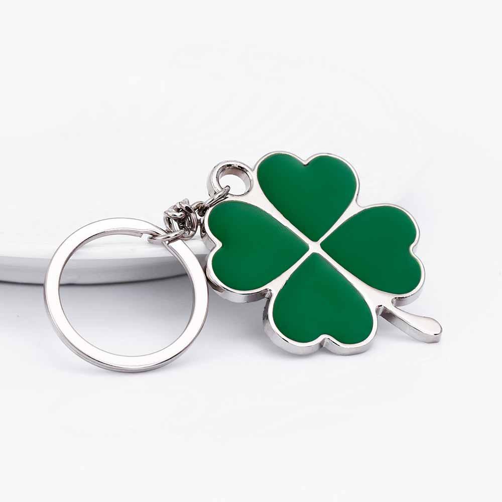 ... Green Leaf Keychain Fashion Creative Beautiful Four Leaf Clover Steel  Lucky Key Chain Jewelry - TakoFashion - Women s Clothing   Fashion online  shop 8638c958a