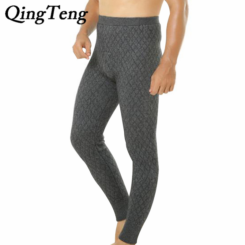 Womens Cashmere Leggings Winter Thermal Pants thick Wool Long Trousers Mens