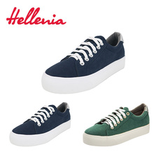 Купить с кэшбэком Hellenia 2018 Spring Summer vulcanize shoes breathable canvas shoes women casual flat fashion students walking lace-up shoes