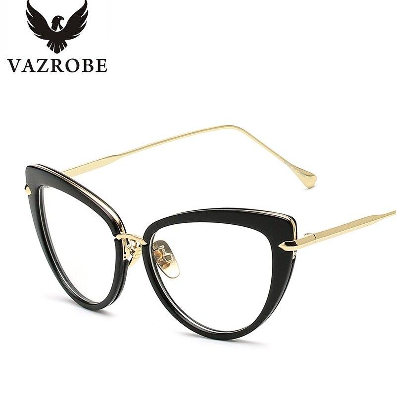 vazrobe cat eye glasses frame women clear fashion womans optical eyeglasses frames womens designer eyeglass frame