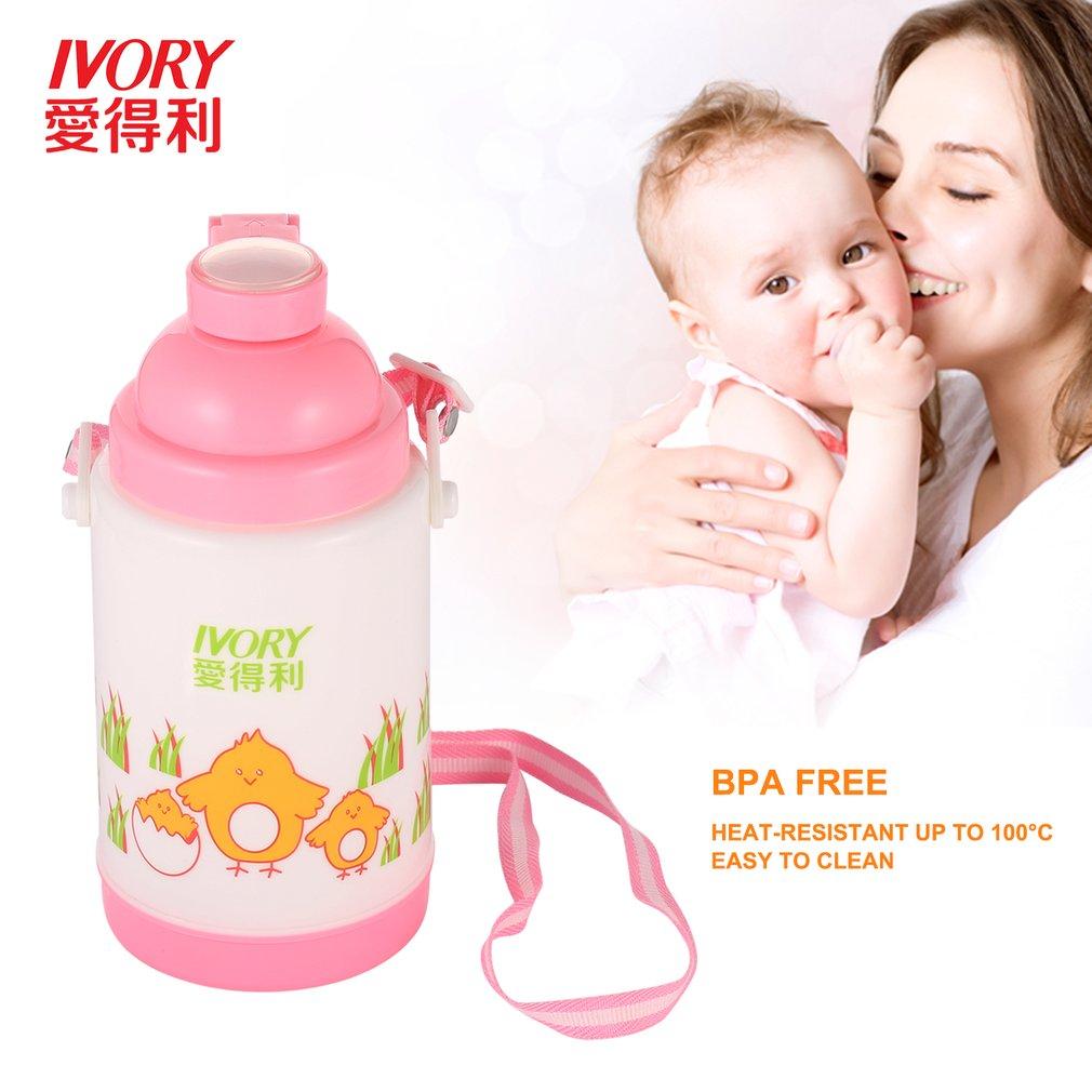 IVORY 280ml CuteBaby Bottles Water Bottle BPA-Free PPKid Drinking Bottle Feeding Straw Childrens Cup Feeding Watter Bottle Hot