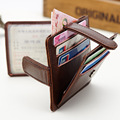Hot Sale Good Leather Women Card Holder Ultra thin Vintage wallet Slim Coin Pocket Purse Men Driving Documents Package