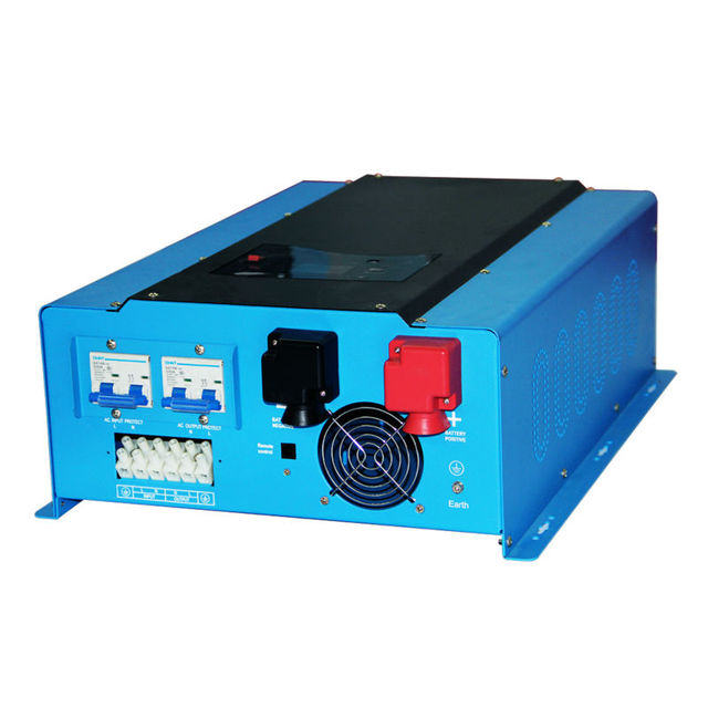 PSW7 10kW 96V 220vac/240vac DC to AC Power Inverter Pure Sine Wave 10000w Off Grid Solar Inverter Built in Battery Charger