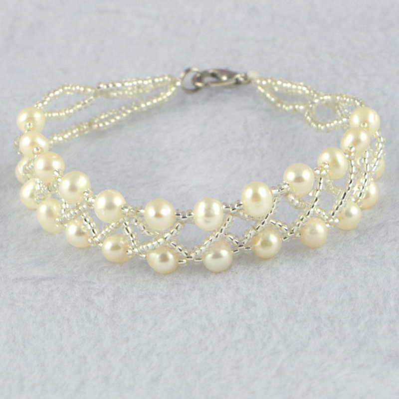 HOT Fashion pearl bracelet 100% natural pearl bracelet for women 18cm+4cm Wholesale and Retail