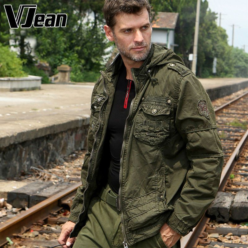 V Jean Men S Rugged Tactical Jacket Hooded With Pockets 6b112 In Jackets From Clothing Accessories On Aliexpress Com Alibaba Group