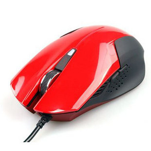 Red black gaming mouse usb wired cs cf