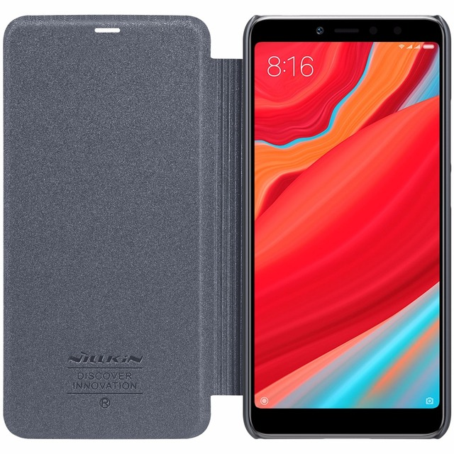 brand new 244ba 14138 US $8.91 10% OFF|Xiaomi redmi Y2 case redmi S2 cover Nillkin Sparkle  leather case flip cover for Xiaomi redmi Y2 S2 with Retail package-in Flip  Cases ...