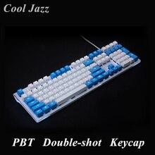 Touches PBT 108 touches PBT rétro éclairé, Double prise, pour clavier de jeu mécanique iso, pour Razer Corsair K65/K70, Logitech G710