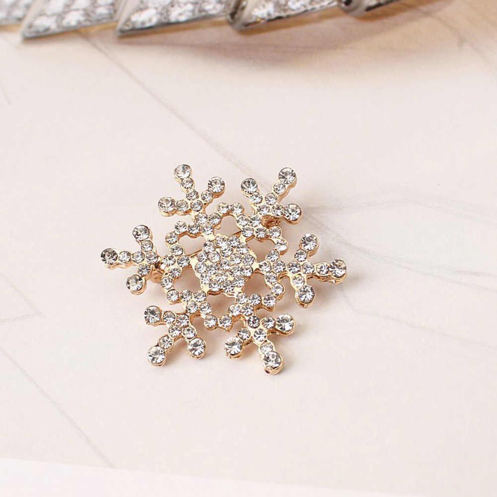 Vendita Della Signora Fashion Pins Cristallo Charming Strass Spilla Unicorno Grande Fiocco di neve Spilla Pins Spille Gioielli