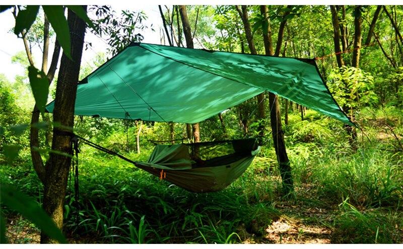 3F ul Gear 510g 3*3 mètres 15d nylon silicone revêtement de haute qualité en plein air caming tente bâche ultra-légère abri soleil auvent - 2