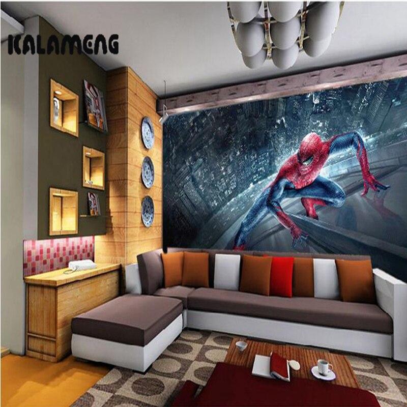 KALAMENG Custom 3D Wallpaper Design Spiderman Photo Kitchen Bedroom Living Room Wall Murals Papel De Parede Para Quarto kalameng custom 3d wallpaper design oil paint peony photo kitchen bedroom living room wall murals papel de parede para quarto