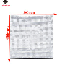 цена на 3D Printer parts Heat Insulation Cotton220/300mm Foil Self-adhesive Insulation Cotton 3D Printer Heating Bed Sticker 1pcs