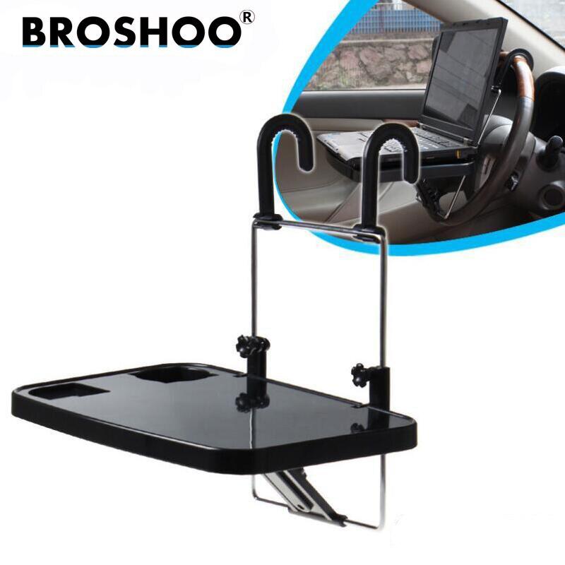 все цены на BROSHOO Car Laptop Desk Notebook Stand Pallet Folding Table Dining Table Car Computer Rack Shelves,Auto Suppilers Car-Styling