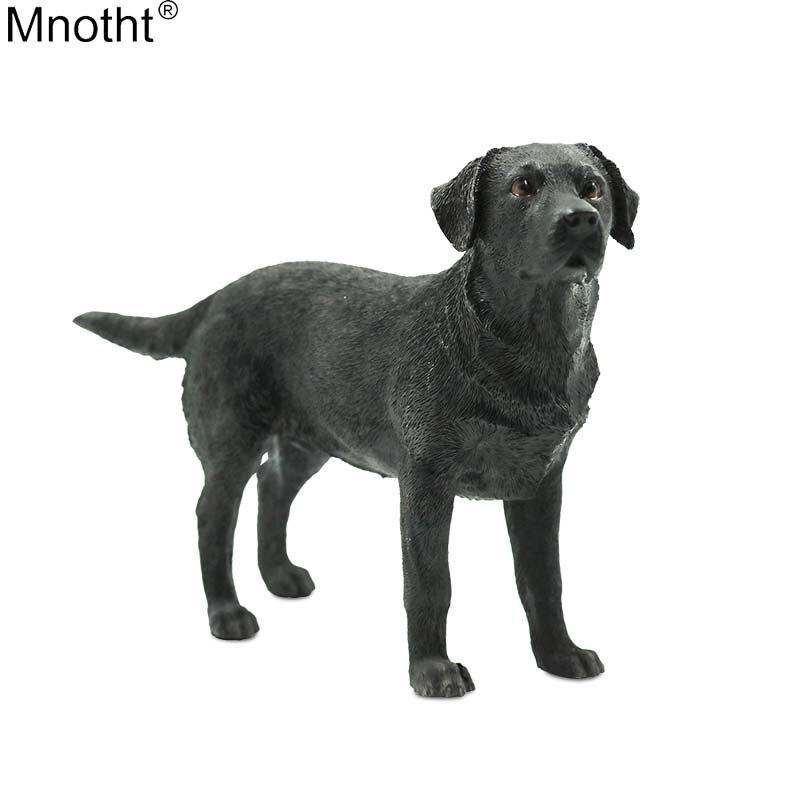 Mnotht modèle Animal 1/6 noir Labrador Simulation chien véhicule artisanat jouet scène accessoire pour figurine d'action cadeau Collection m3n