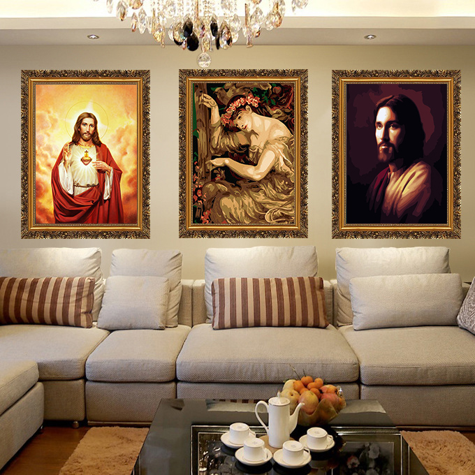 Religion Jesus Christ, Virgin Mary, Silk Posters Home Decor Wall Art For Living Room Office Wall Poster