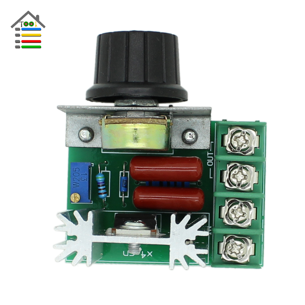 AUTOTOOLHOME 220V 2000W SCR Voltage Regulator Dimming Dimmers PWM Speed Controller Control Switch Thermostat For Brushed Motor freeshipping dc motor speed regulator pwm adjustable voltage stability module