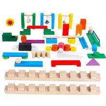 Деревянные цветные аксессуары для детских домино, деревянные блоки домино, кубики, развивающие игрушки, подарки домино