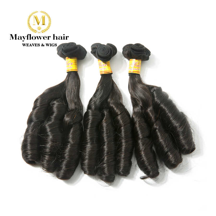 "MFH Double drawn Remy Hair extension Funmi hair Natural color Romance curl  10-18"" mixed length 1/2/3/4 bundles Free shipping"