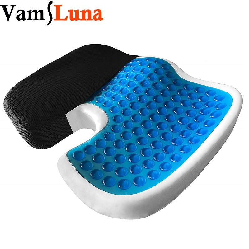 Gel Coccyx Seat Cushion Sitter with Non-Slip Cover For Massage, Breathable Honeycomb Design For Office Chair, Wheel Chair FGel Coccyx Seat Cushion Sitter with Non-Slip Cover For Massage, Breathable Honeycomb Design For Office Chair, Wheel Chair F