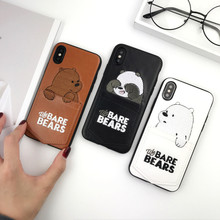 Luxury Pu Leather Phone Case For IPhone 6 XS XSMAX XR 6S 7 8 Plus Soft TPU Cute Cartoon Bear Cover With Card Pocket Bags Cases