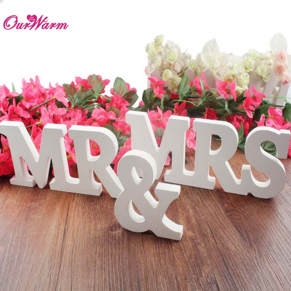 mr mrs mdf wooden letters wedding sign top table decoration presentchina mainland