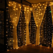 3x3M USB Led Curtain Fairy String Light Flash Copper Wire Remote control Christmas For Wedding Home Garden Party Decor