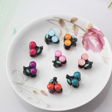 C New Sunmer Sweet Candy Cherry Fruit Hair Claws Clips Hairpins Girls Hair Accessories Leaf Patterns Barrettes Women Headwear