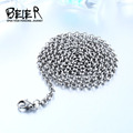 Beier 3/3.5/4mm stainless steel necklace twist  trendy   chain necklace boy/man  Silver Color  BN1044