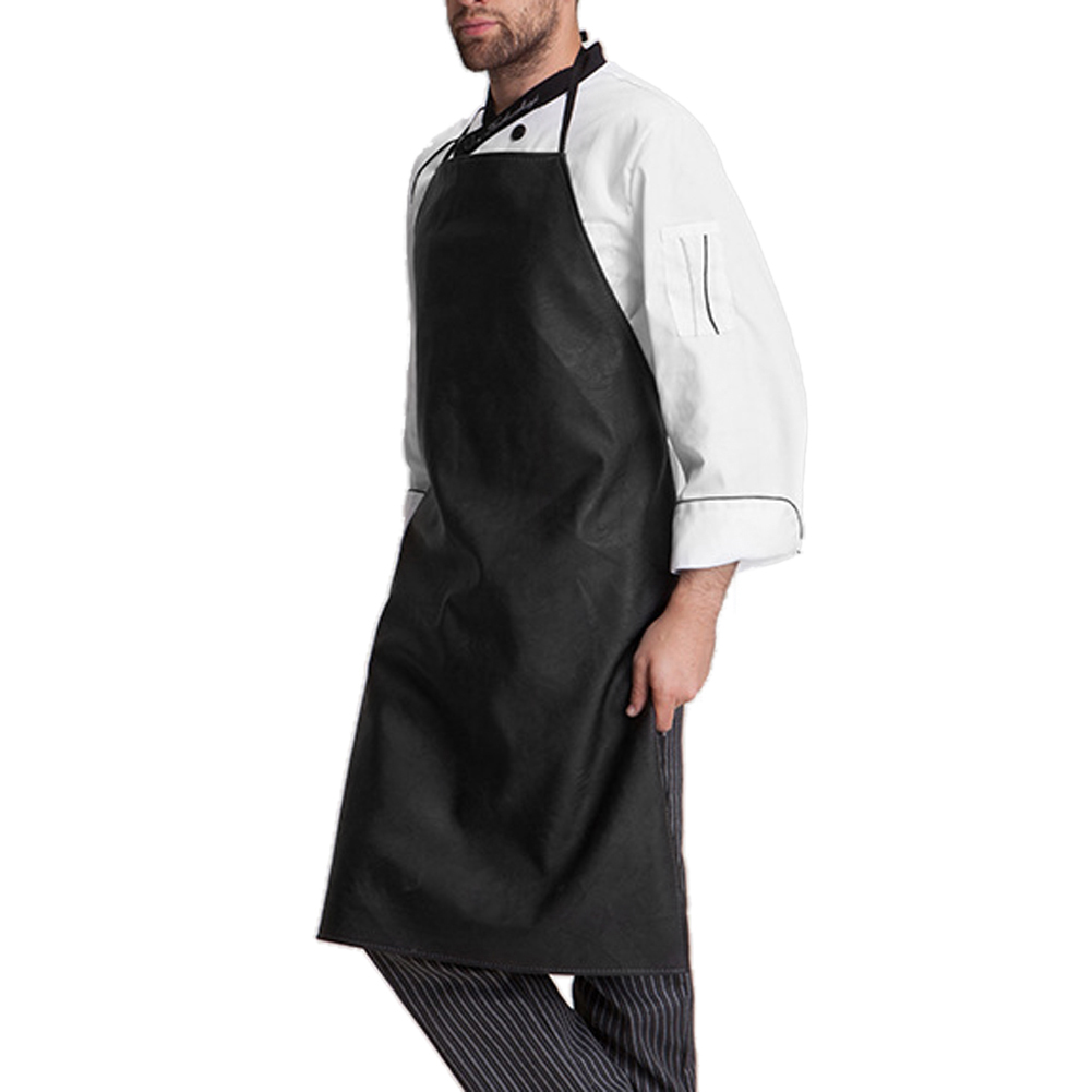 Mens Faux Leather Waterproof Apron + Cuff