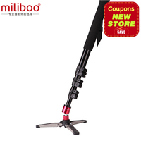Miliboo MTT705Bポータブル炭素繊維一脚用プロフェッショナルデジタル一眼レフ/カメラ/videocamcorder三脚スタンド半額のマンフロッ
