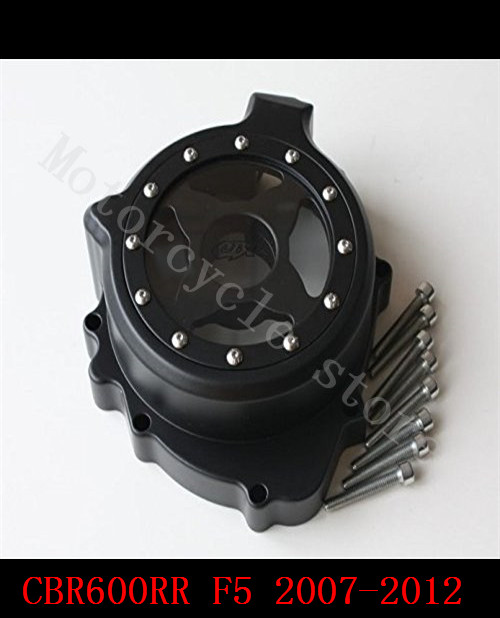 For Honda CBR600RR CBR 600 F5 2007 2008 2009 2010 2011 2012 2013 2014 Motorcycle Engine Stator cover see through black left side motorcycle winshield windscreen for honda cbr600rr f5 cbr 600 cbr600 rr f5 2007 2008 2009 2010 2011 2012